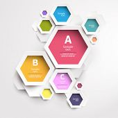 image of hexagon  - Modern abstract design - JPG