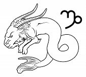 picture of capricorn  - Illustration of Capricorn the sea goat zodiac horoscope astrology sign - JPG