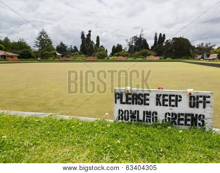 Bowling Green In Rotorua In Government Park Nz