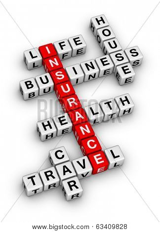 insurance cubes crossword puzzle