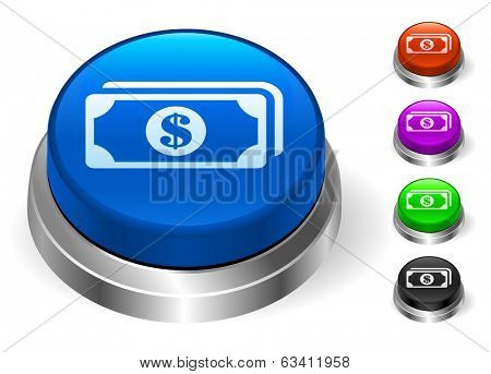 Money Icons on Round Button Collection