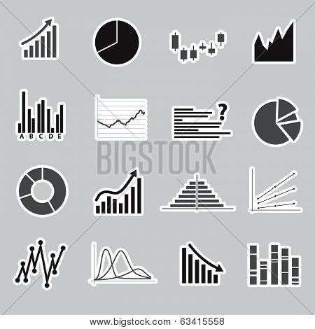 graphs stickers eps10