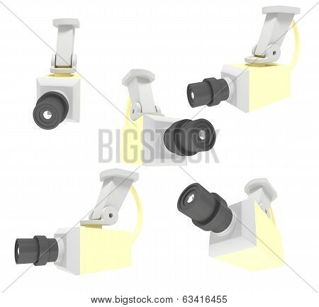 3d illustratiom of surveillance camera