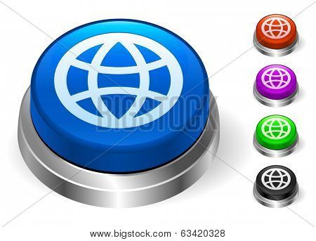 Globe Icons on Round Button Collection