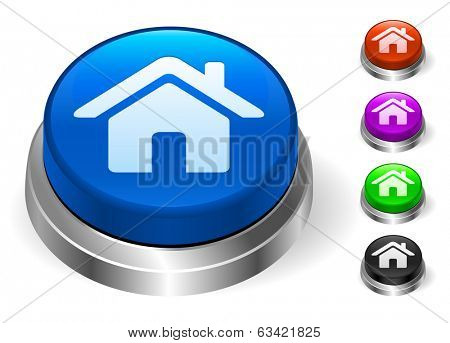 House Icons on Round Button Collection