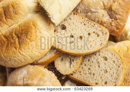 Bread and other baked goods.