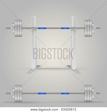 Illustration of barbells