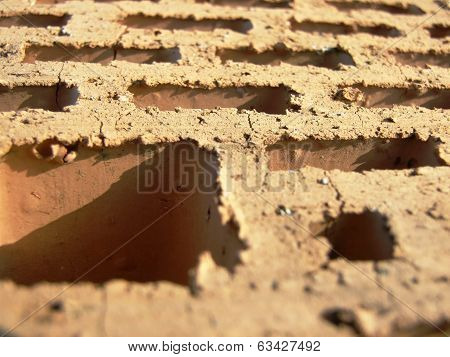 Ordinary brick closeup
