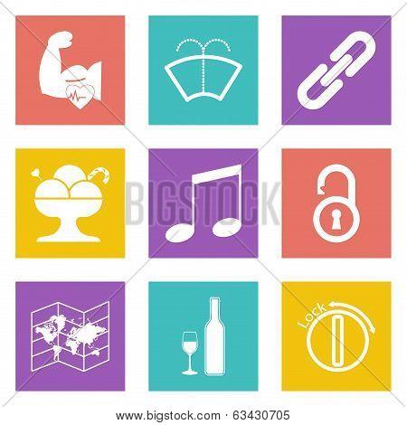 Color icons for Web Design set 48