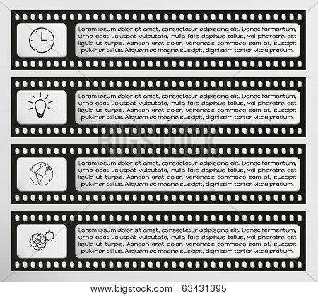 Infographic Vector Filmstrip