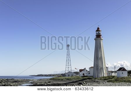 Quebec  Lighthouse And Village