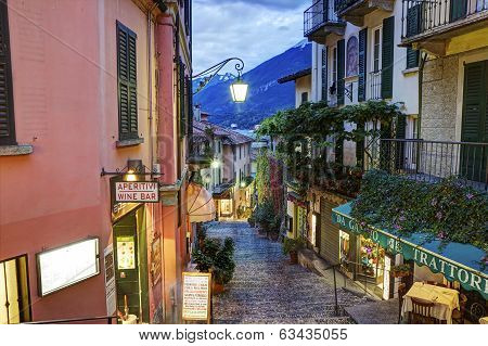 Picturesque small town street view in Bellagio