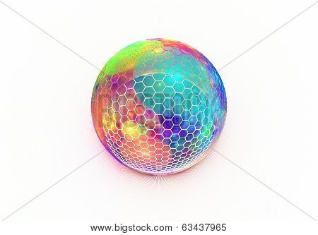 Hexagon grid on the colorful sphere