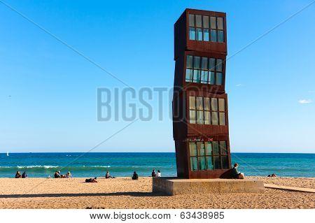Beach Platja De Sant Sebastia, Barcelona