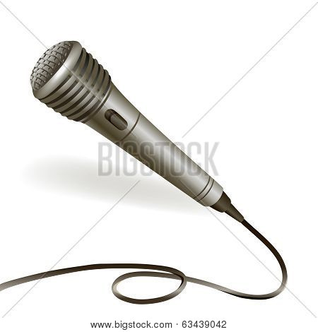 Microphone emblem isolated