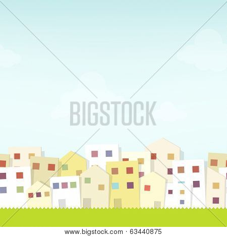 seamless urban landscape. cutout illustration