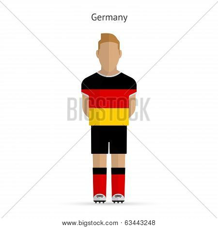 Germany football player. Soccer uniform.