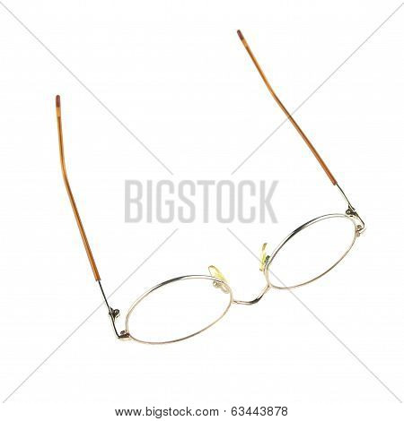 Old Glasses For Problem Vision Put Upturned Isolated