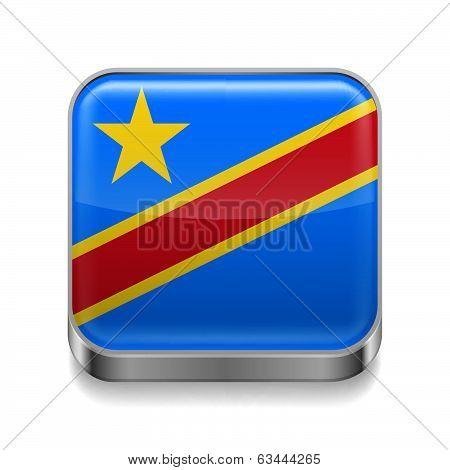 Metal  icon of Democratic Republic of the Congo