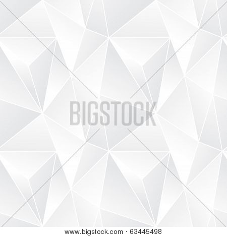 Triangle Seamless Abstract Vector Pattern - Mosaic Poligonal Modern Background