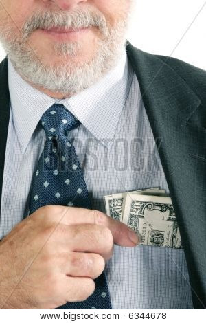 Business man with money