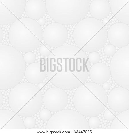 Vector Seamless Square Light Gray Styrofoam Pattern - Abstract Texture For Design - Eps8