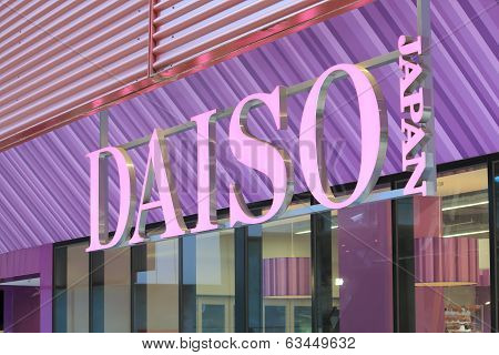 Daiso shop in Melbourne