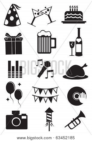 Celebration Party Icon On White Background