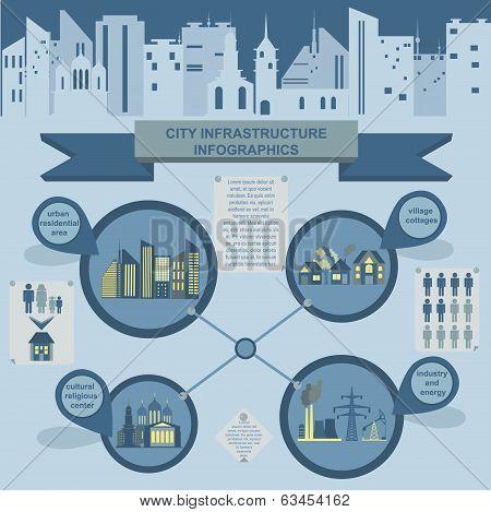 Set of elements infrastructure city, vector infographics