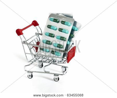 Shopping Trolley With Medicine