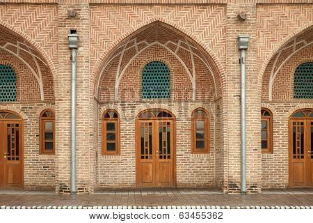 Traditional Old Caravansary With Brickwork Architecture