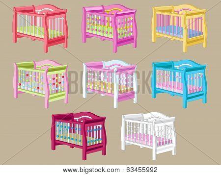 Set of Baby's Cot