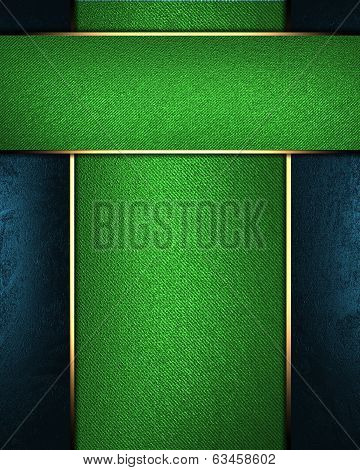Green Background With A Green Nameplate. Design Template