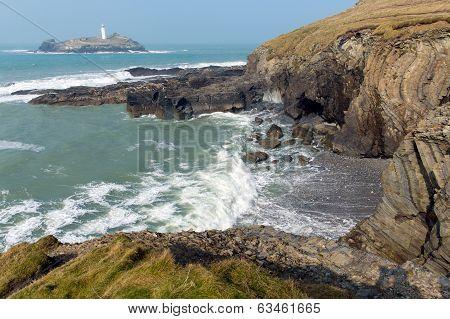Godrevy coast Cornwall coast England UK