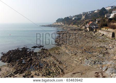 St Mawes coast Cornwall Roseland Peninsula Cornish south west England UK