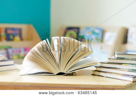Books Opened On The Table