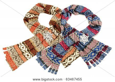 Cute winter scarves with fringe.