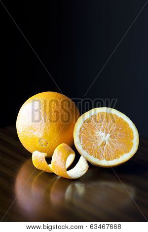 Fresh Oranges And Peel