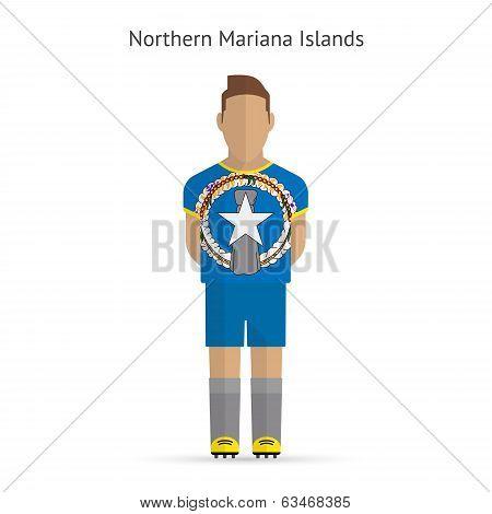 Northern Mariana Islands football player. Soccer uniform.