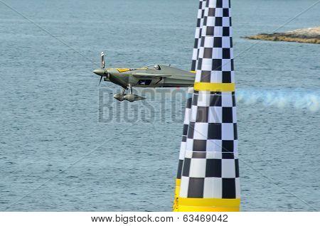 Rovinj, Croatia - April 13 2014 Airplane At Red Bull Air Race Event