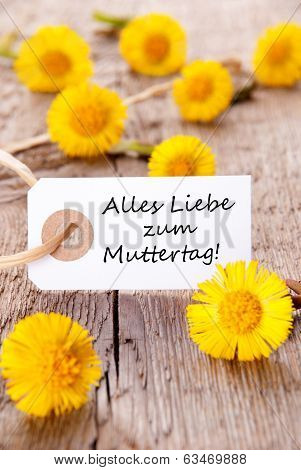 White Tag With Alles Liebe Zum Muttertag