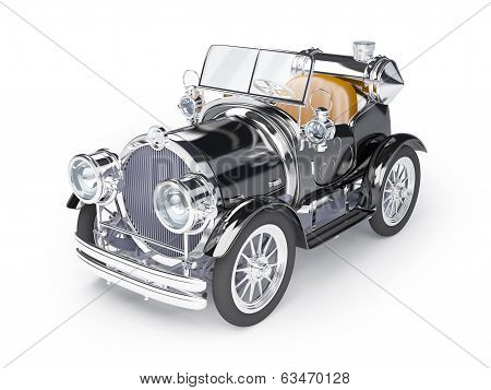 1910 black retro car