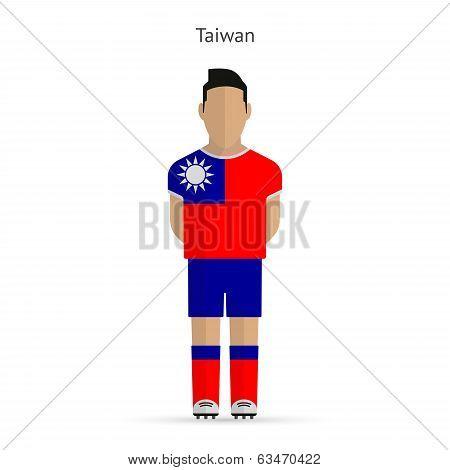 Taiwan football player. Soccer uniform.