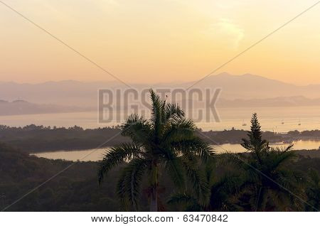 Santiago Bay Morning In Manzanillo