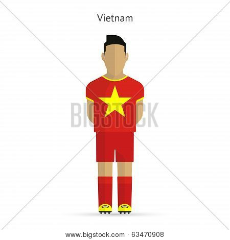 Vietnam football player. Soccer uniform.