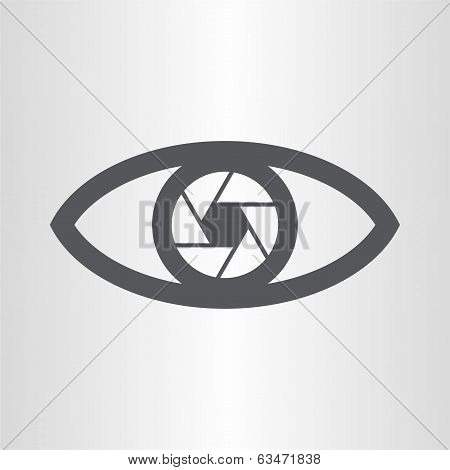 Abstract eye, objective icon