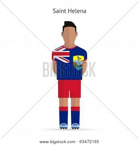 Saint Helena football player. Soccer uniform.