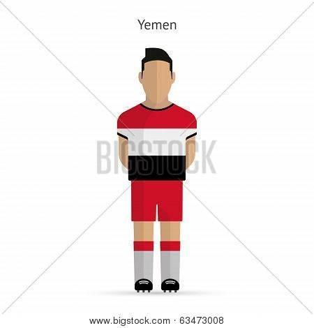 Yemen football player. Soccer uniform.