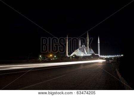 Shah Faisal Mosque in Islamabad