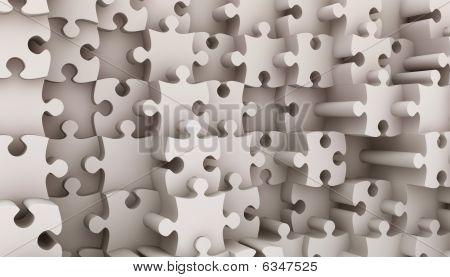 Puzzle de piezas 3d render